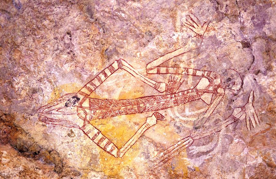 Le parc regorge de peintures rupestres des aborigènes