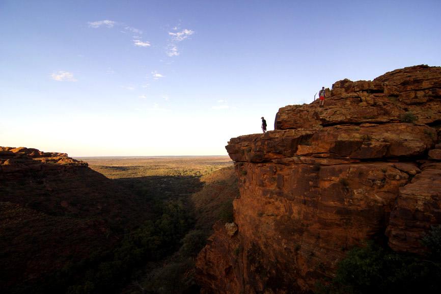 Les falaises s'élèvent jusqu'à 270 mètres - Kings Canyon