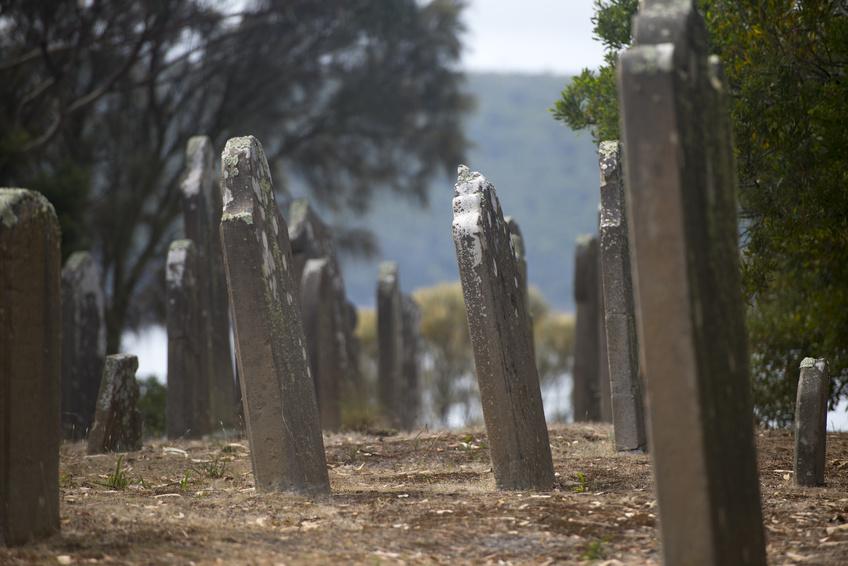 Tombes sur l'ile aux morts - Port Arthur
