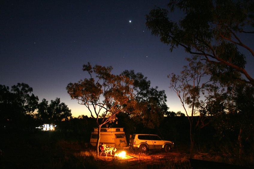 Dormir en camping dans l'Outback australien