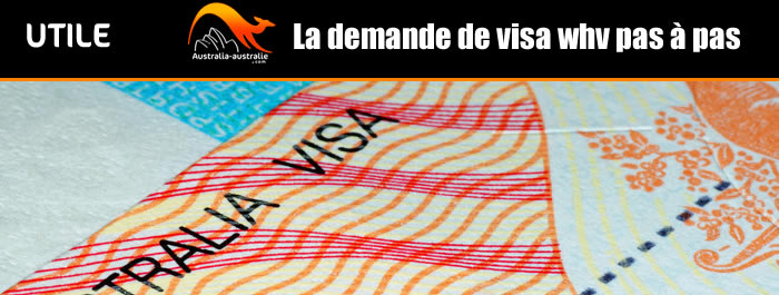 Demande de working holiday visa