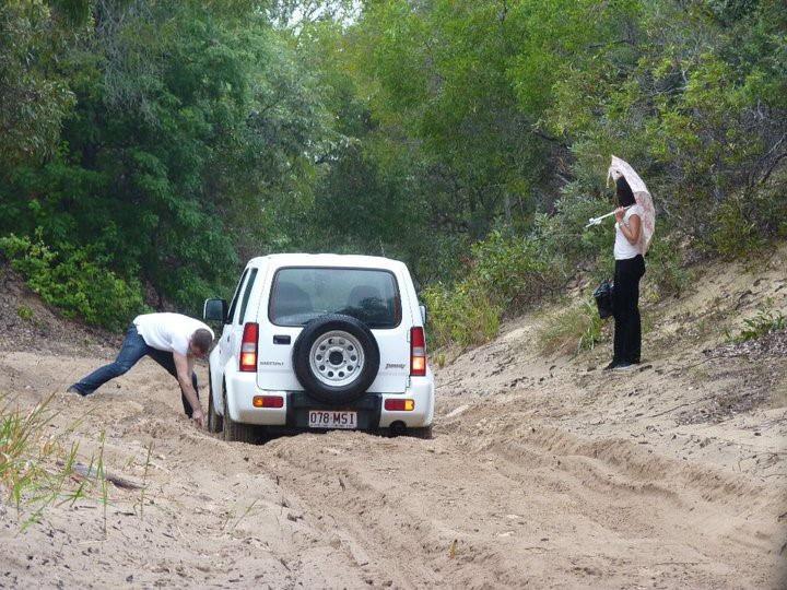 Aucune route sur Fraser, seulement des pistes de sable - 4x4 obligatoire.