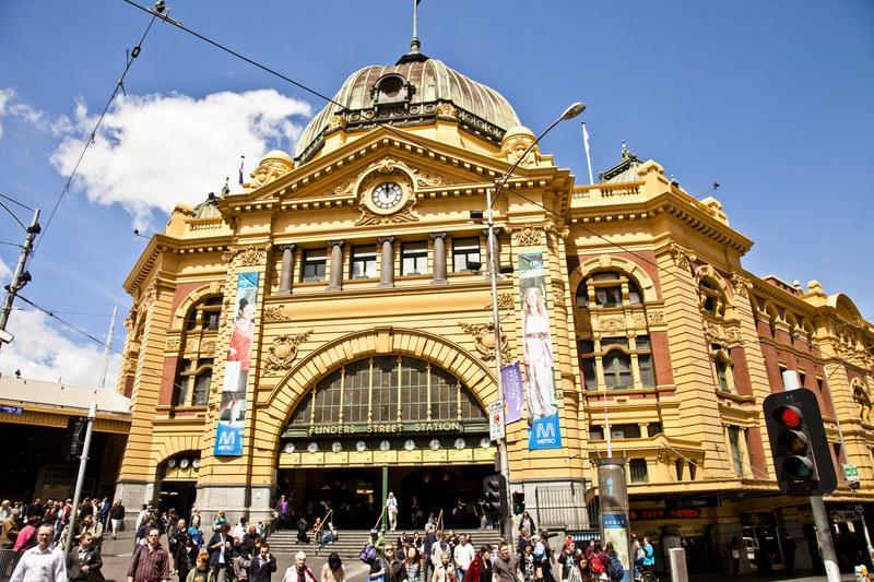 La gare de Flinders
