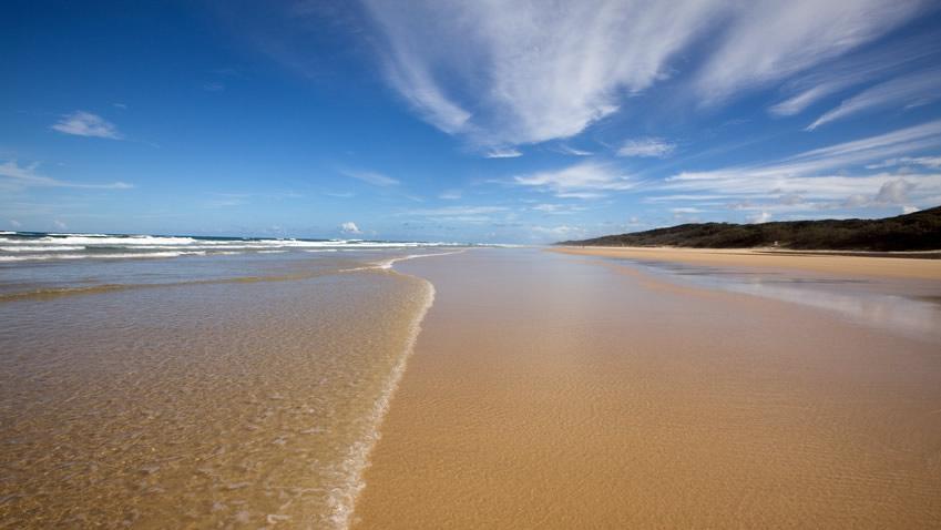 Des dizaines de kilomètres d'immenses plages