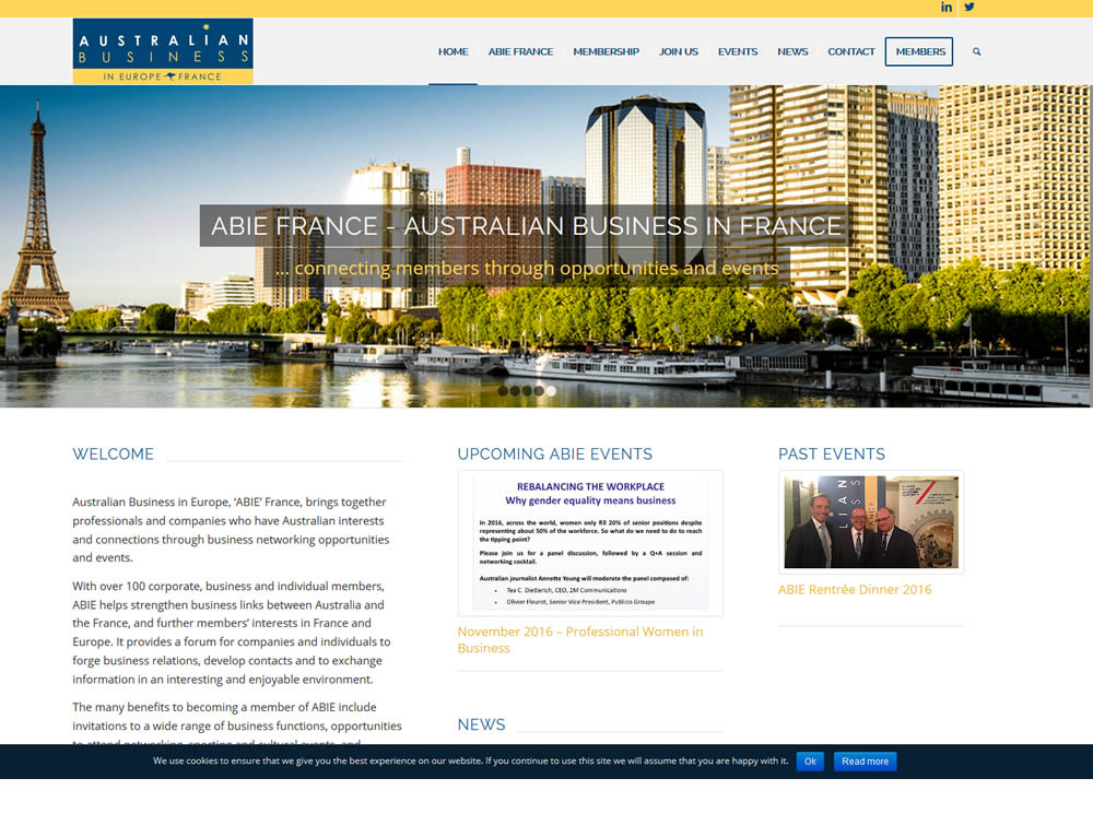 Le site de l'Australian Business In Europe