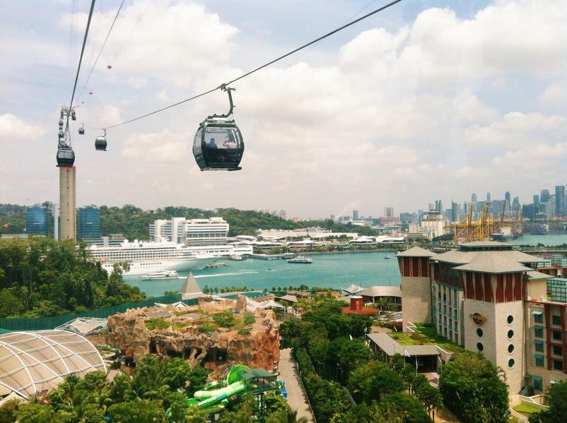 Les Cable Car de Singapour