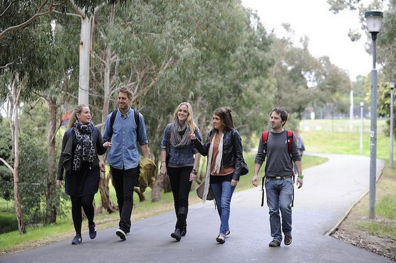 Des étudiants du campus de Monash University Melbourne