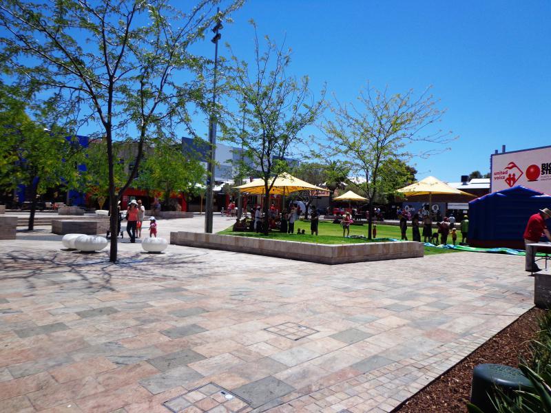 La Piazza de Northbridge est un lieu de détente mais aussi d'animations.