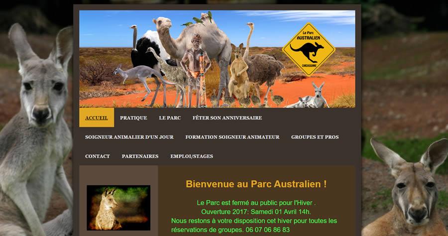 Le site du parc Australien à Carcasonne