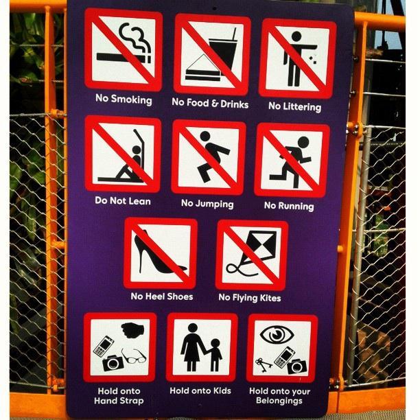 Un petit rappel des règles à Singapore