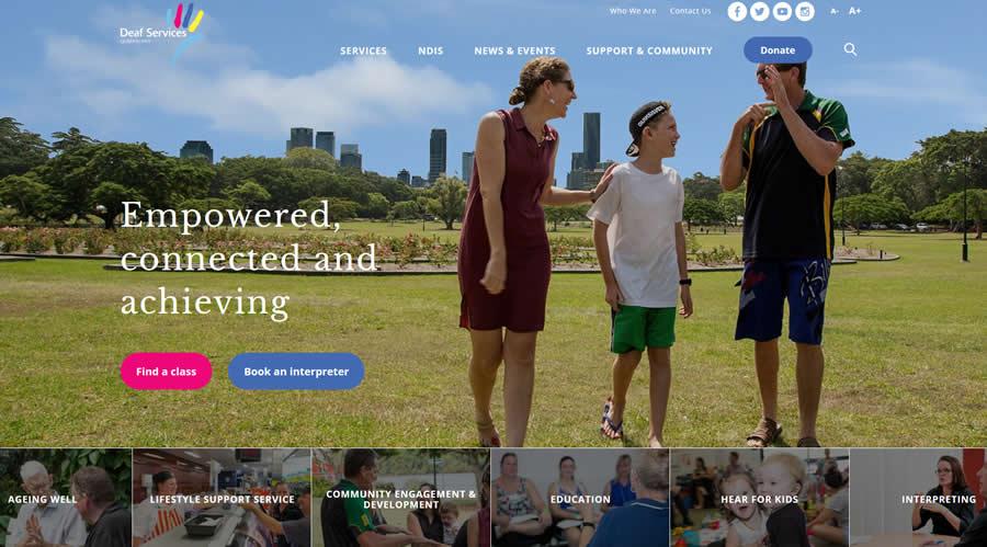 Le site pour les sourds du Queensland