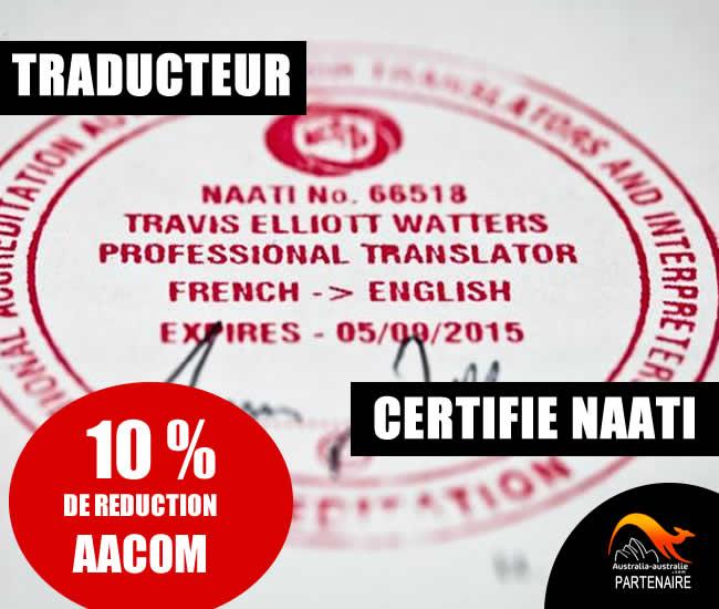 Traducteur certifié Naati Australie