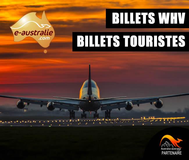 Vols whv et touristes e-Australie
