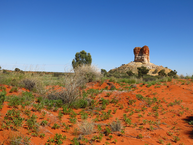 Chambers Pillar, Northern Territory, Australie 160 kms d'Alice Spring