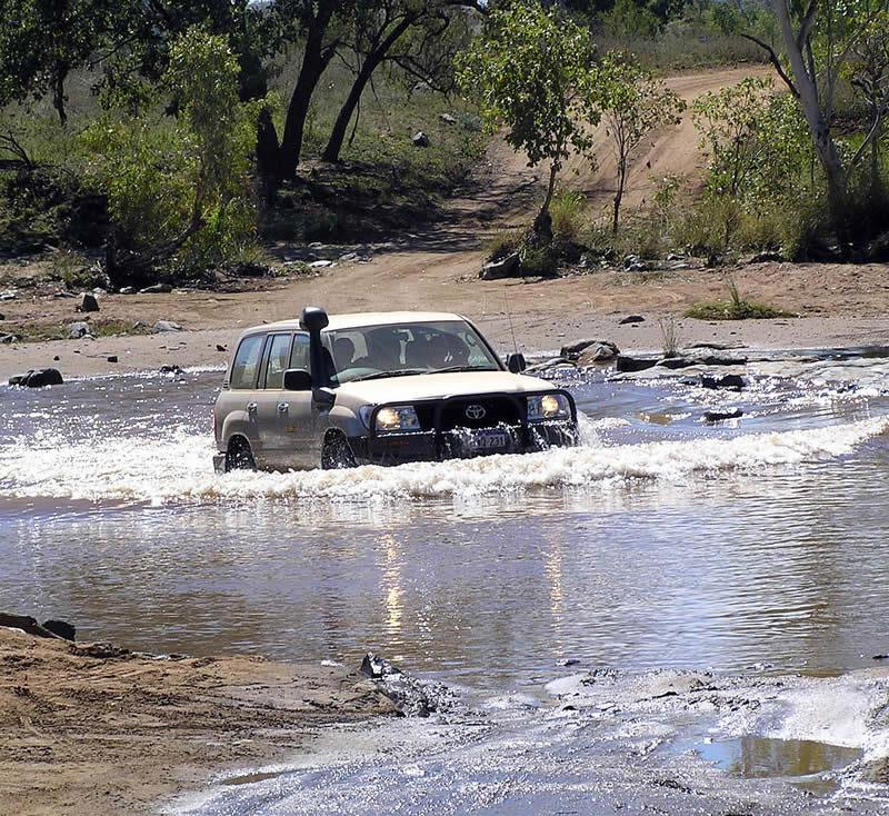 4x4 dans l'Outback en Australie
