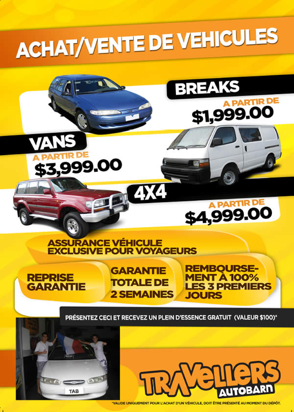 Achat et vente véhicule Australie