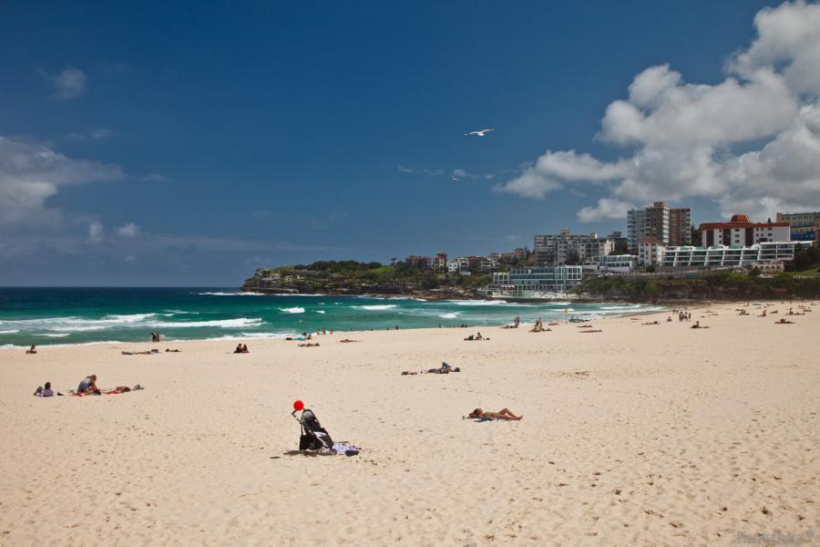 Bondi Beach est un havre de paix aprés 25 h d'avion