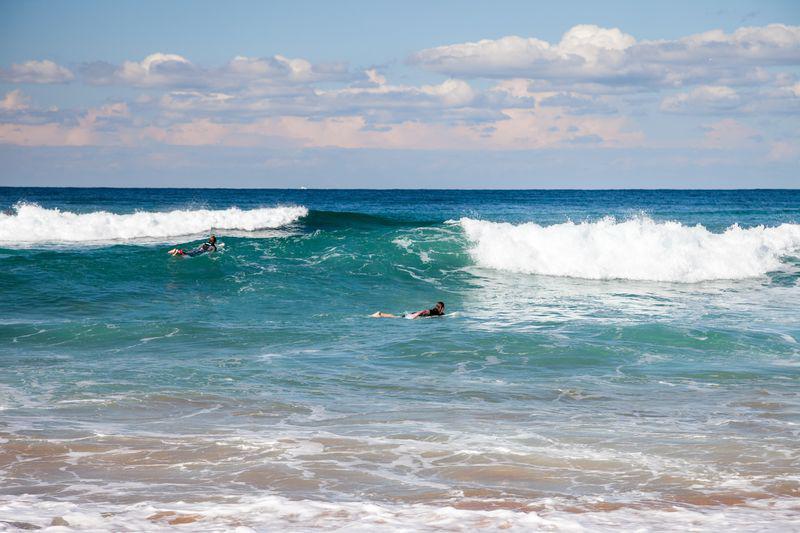 Les surfeurs de Bondi Beach
