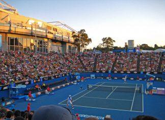 Le Melbourne Park ou se déroule l'Open d'Australie