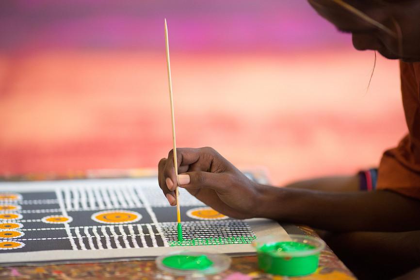 La peinture aborigène est l'expression du Rêve