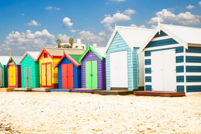 Brighton Beach, proche de St Kilda