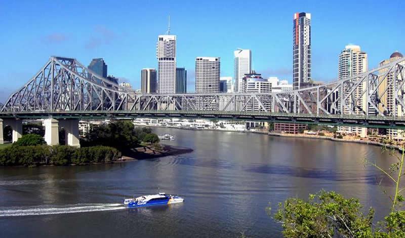 Un City Cat sur la Brisbane River