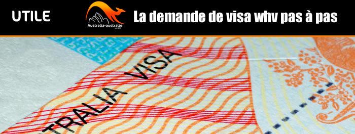 Demande de working holiday visa