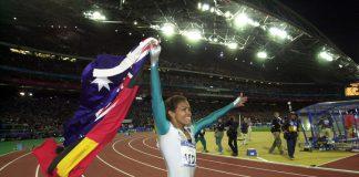 Cathy Freeman, championne olympique du 400 mètres à Sydney