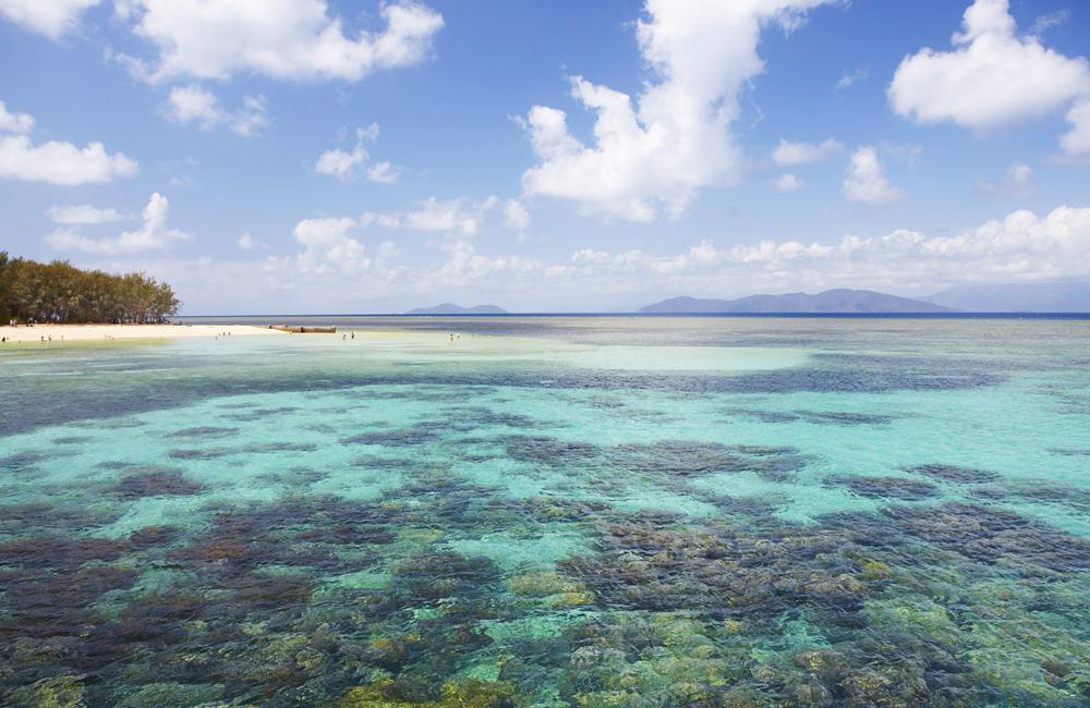 Green Island, aux portes de Cairns, un peu envahie par les touristes