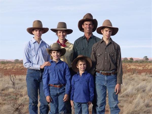 La famille Pensini, il y a quelques années