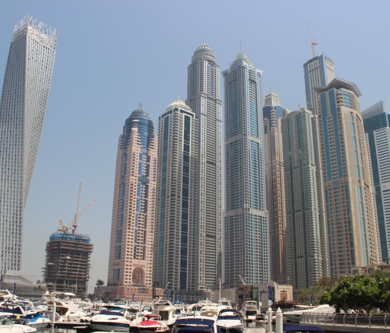 Les yachts de la marina de Dubaï... Un peu le St Trop' du coin