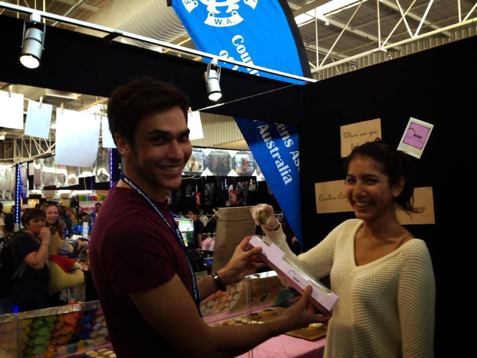 L'ambiance est bonne sur les stands aux marchés et aux événements comme ici au Perth Royal show