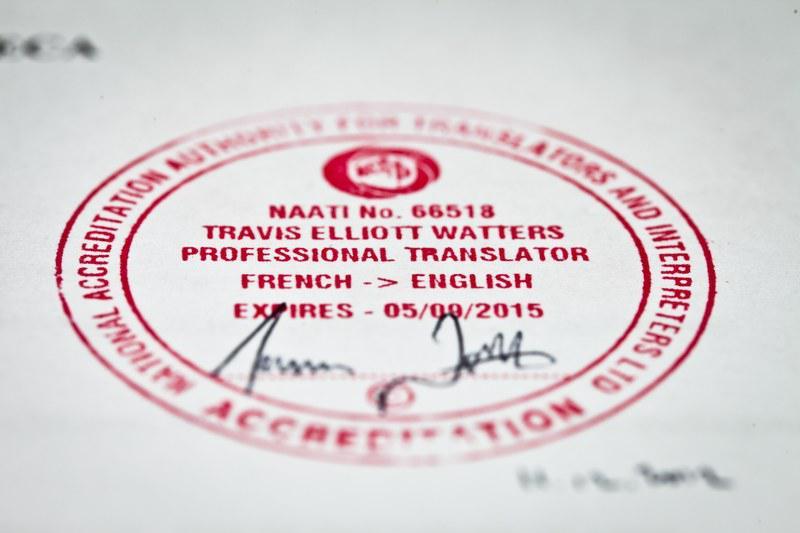 traducteur certifié