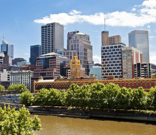 Le Central Business District et la Yarra River