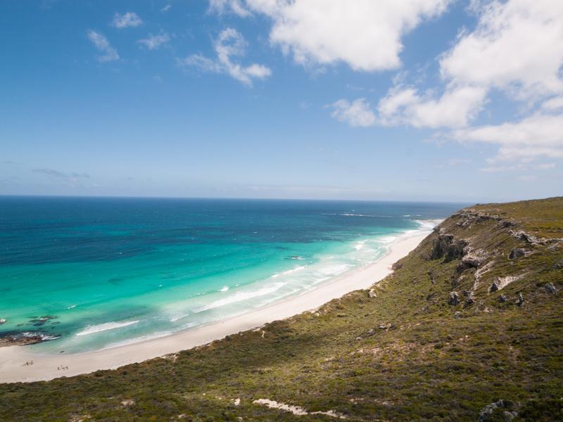 Les longues plages de Margaret River, Western Australia,