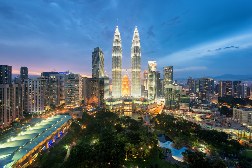 Kuala Lumpur skyline et les tours Petronas