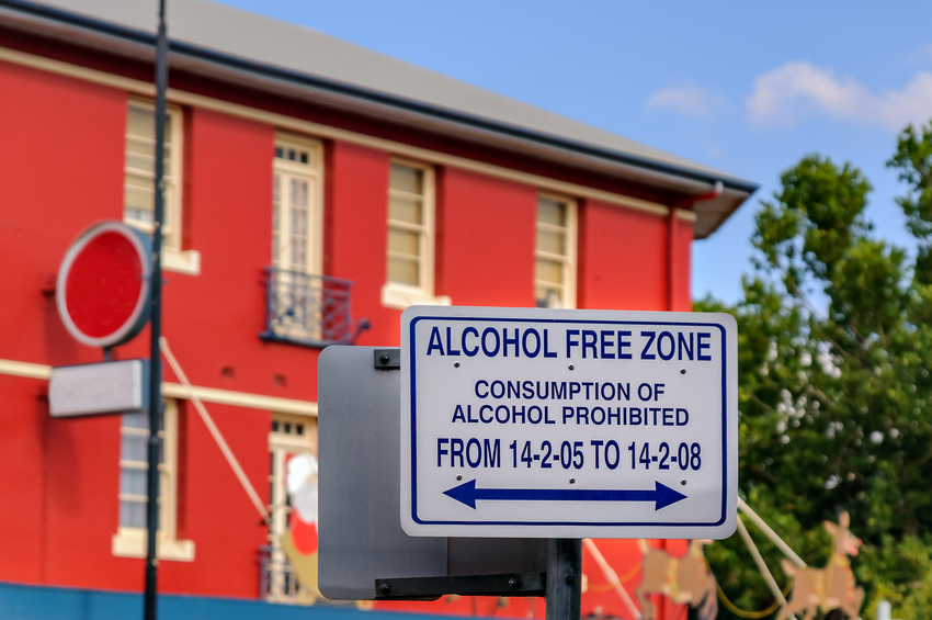 Amendes en Australie : zone sans alcool
