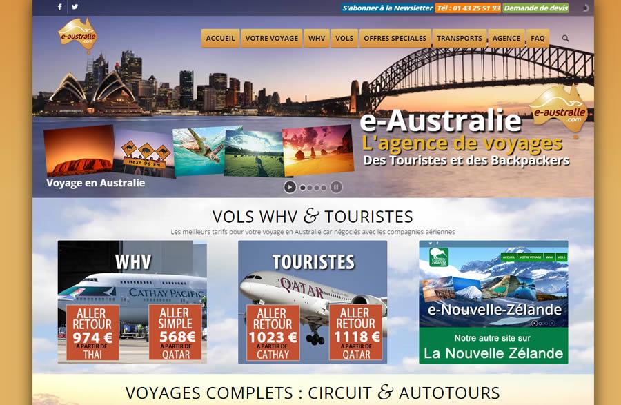 e-Australie pour son voyage en Australie - partenaire depuis 2005
