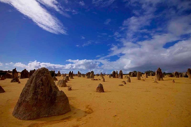 Les Pinnacles, paysage étrange digne d'une autre planète :
