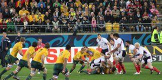 Coupe du monde Rugby, les australiens contre les Usa