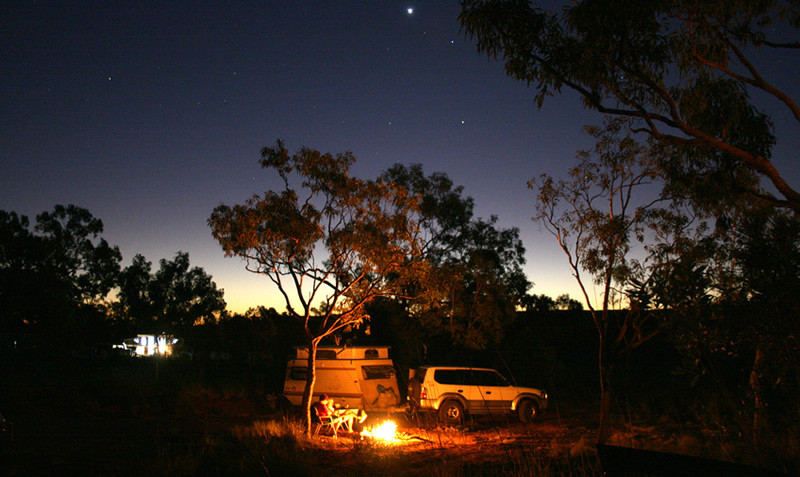 Bivouac en Australie