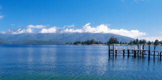 Lac taupo en nouvelle zélande