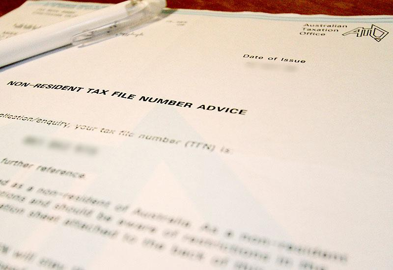 Le Tax File Number : TFN Australie