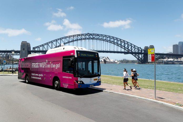 Bus Sydney free wifi