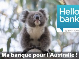 Hello bank pour l'Australie